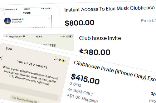 Clubhouse Invite Code: eBay sellers charging up to $800