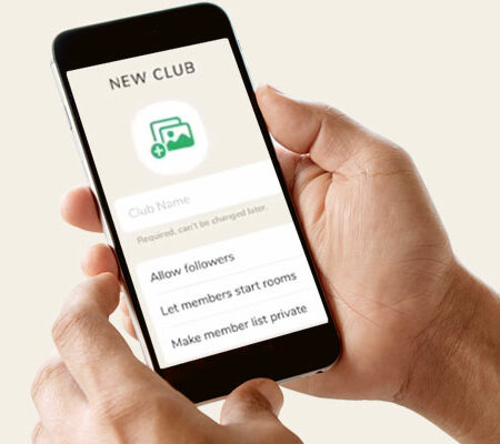 Clubhouse update: create clubs directly in the app